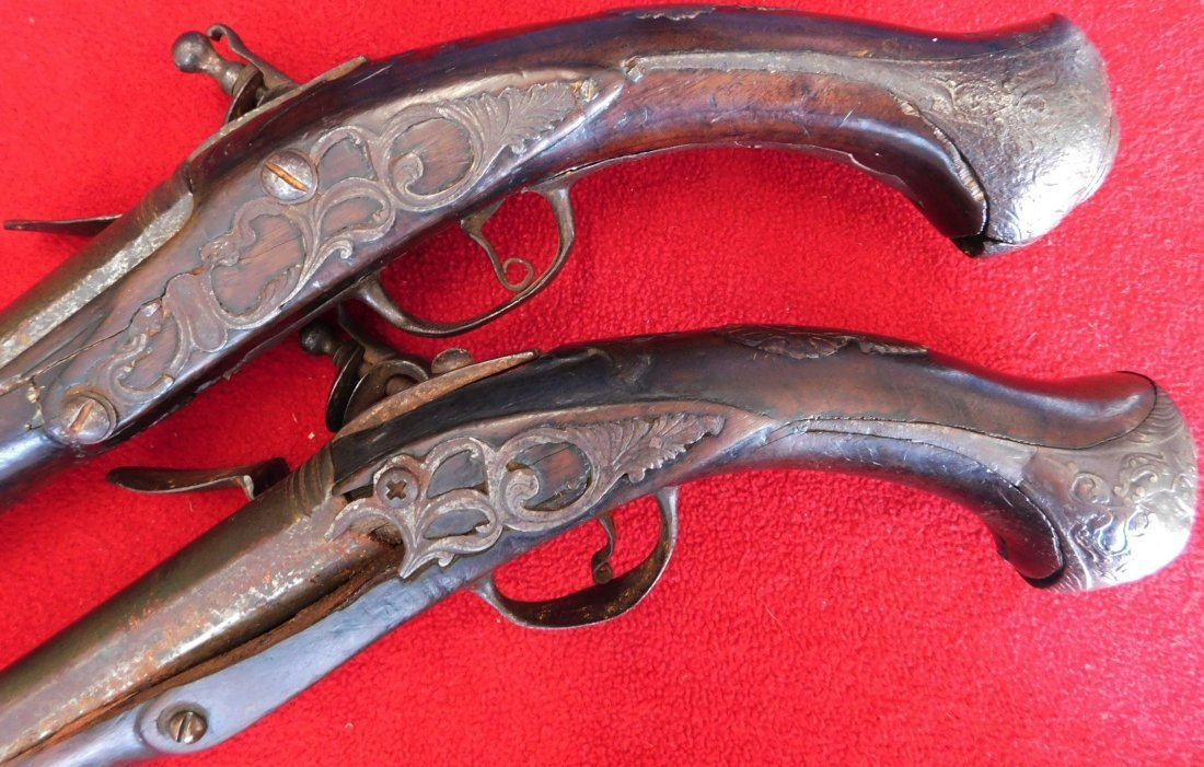 Matched Pair of Dueling Pistols - 8