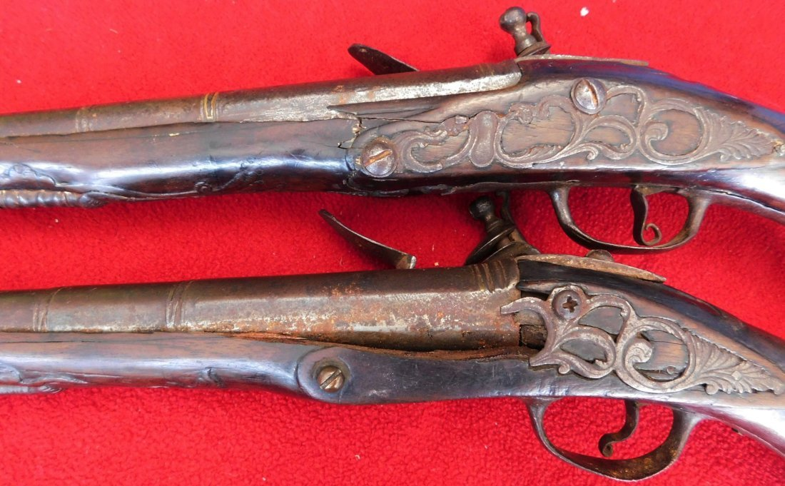 Matched Pair of Dueling Pistols - 9
