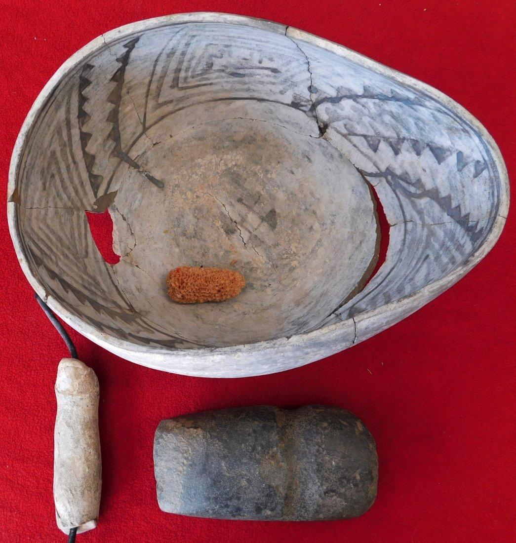 Anasazi Bowl, Axe & Pipe