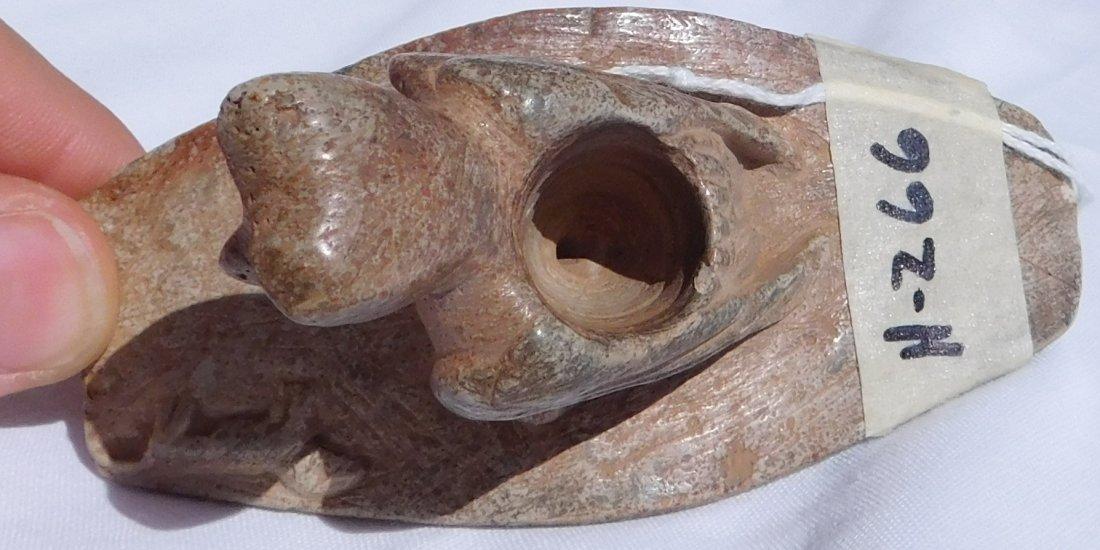 Stone Platform Bird Effigy Pipe - 7