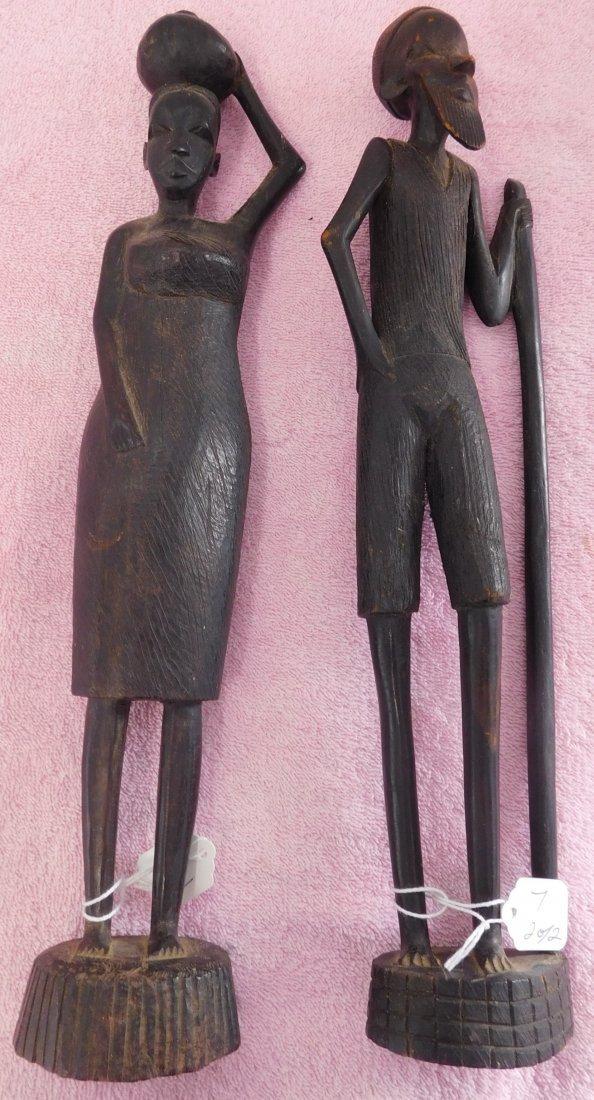 Pair of Ebony African Carvings