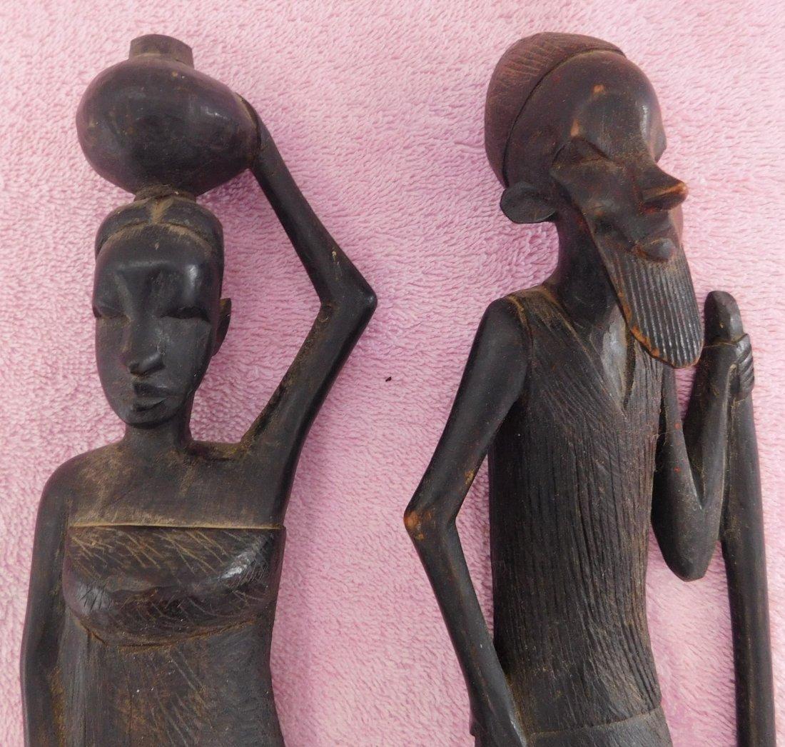 Pair of Ebony African Carvings - 2