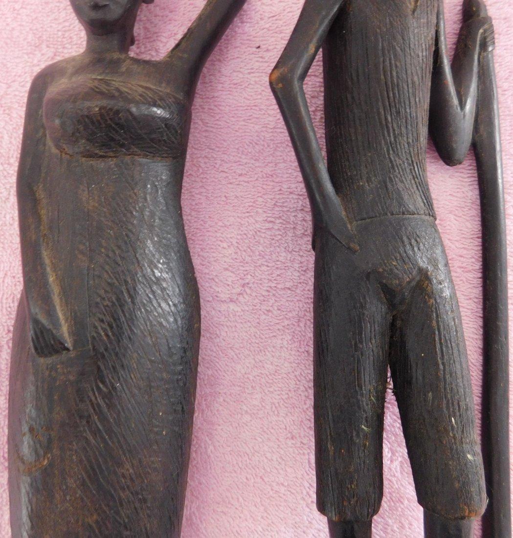 Pair of Ebony African Carvings - 3