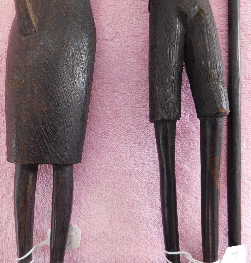 Pair of Ebony African Carvings - 4