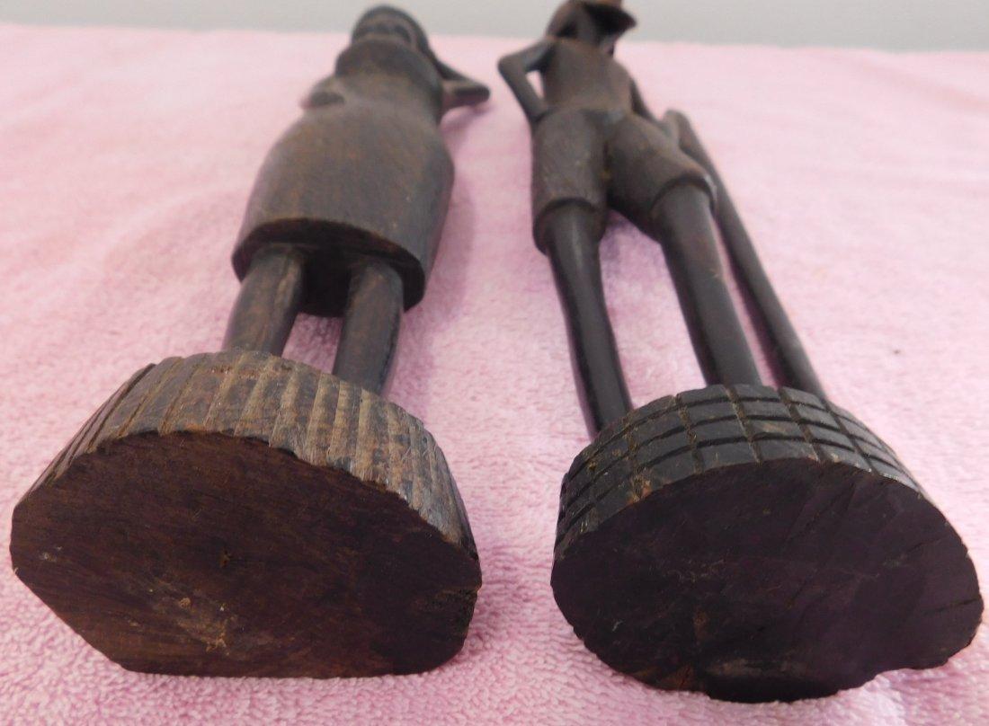 Pair of Ebony African Carvings - 5
