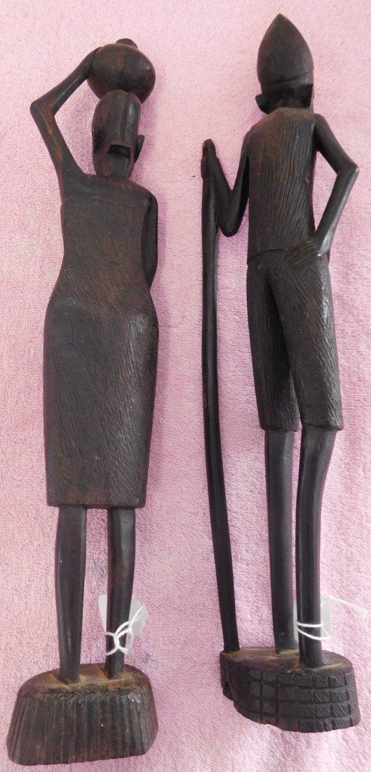 Pair of Ebony African Carvings - 6