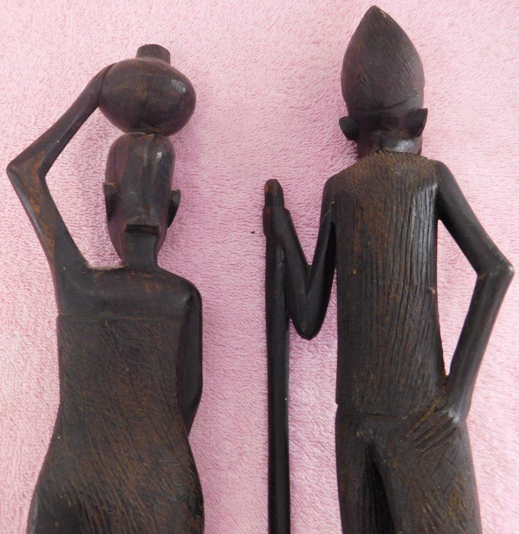 Pair of Ebony African Carvings - 7
