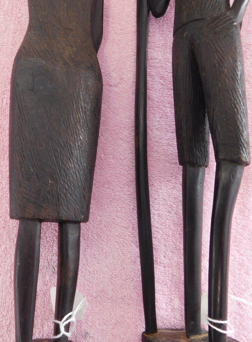 Pair of Ebony African Carvings - 8