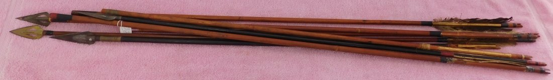 Collection of 8 Japanese Arrows