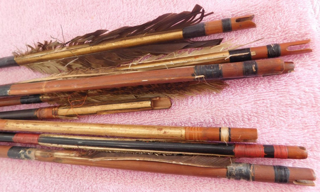 Collection of 8 Japanese Arrows - 2