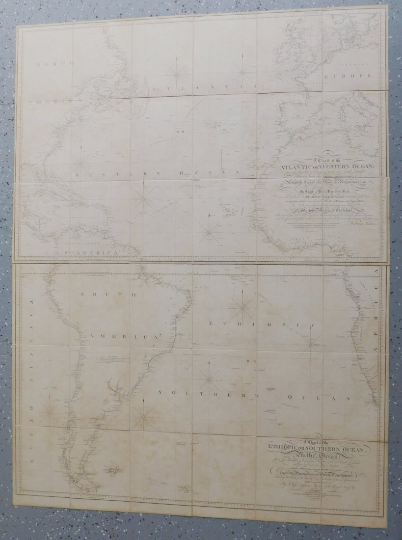 Rare English Maps of the North & South Atlantic - 3