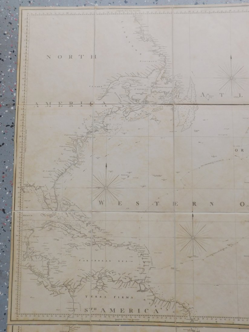 Rare English Maps of the North & South Atlantic - 8