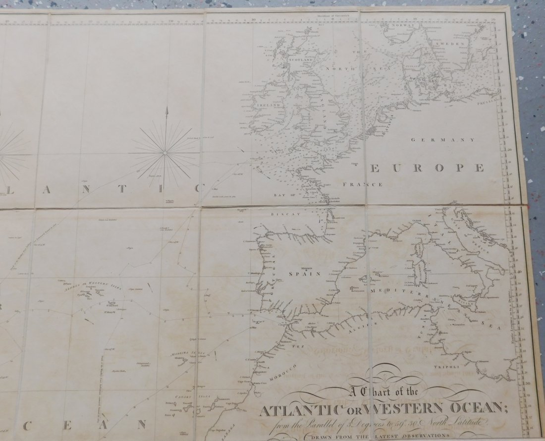 Rare English Maps of the North & South Atlantic - 9