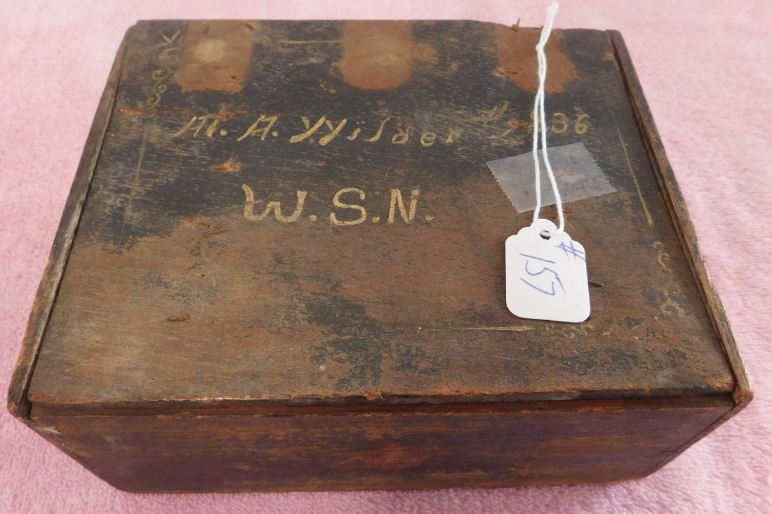 Collection of Civil War Medals & Buttons in Box