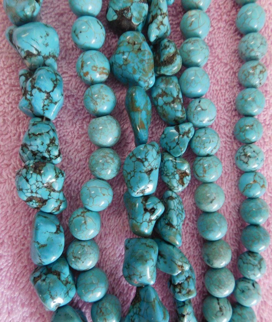 Turquoise & Stone Beads - 5