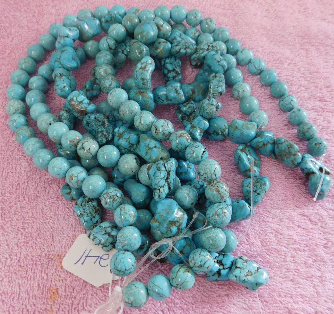 Turquoise & Stone Beads - 7