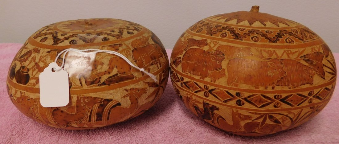 Carved Gourd Collection - 5
