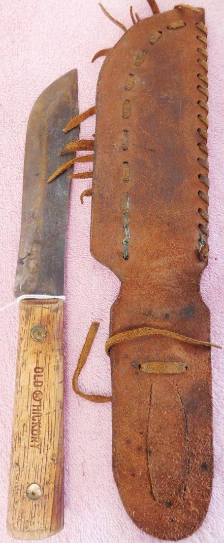 Old Powder Horn & Hunting Knife w/Sheath - 3