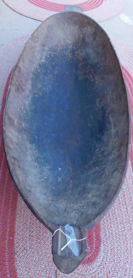 Large Polynesian Wood Bowl w/Helm COA - 10