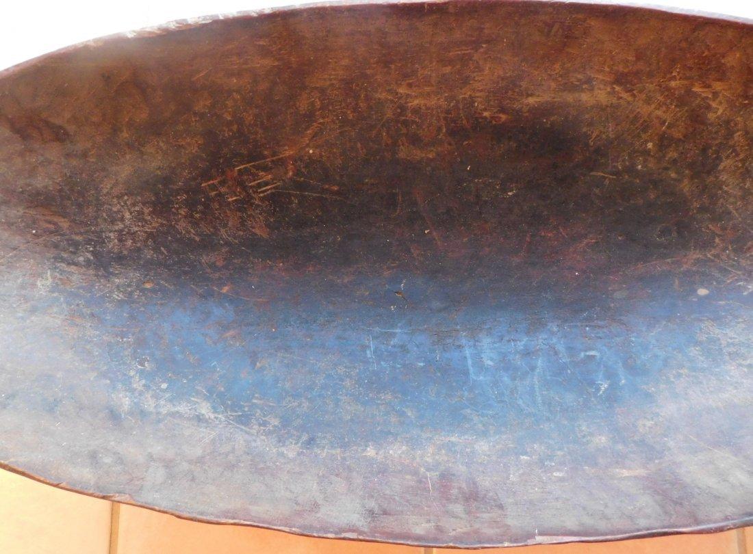 Large Polynesian Wood Bowl w/Helm COA - 4