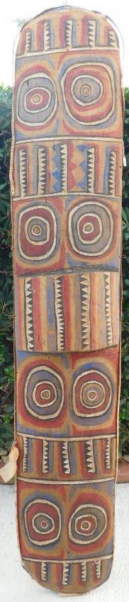 Large Polynesian Shield w/Helm COA