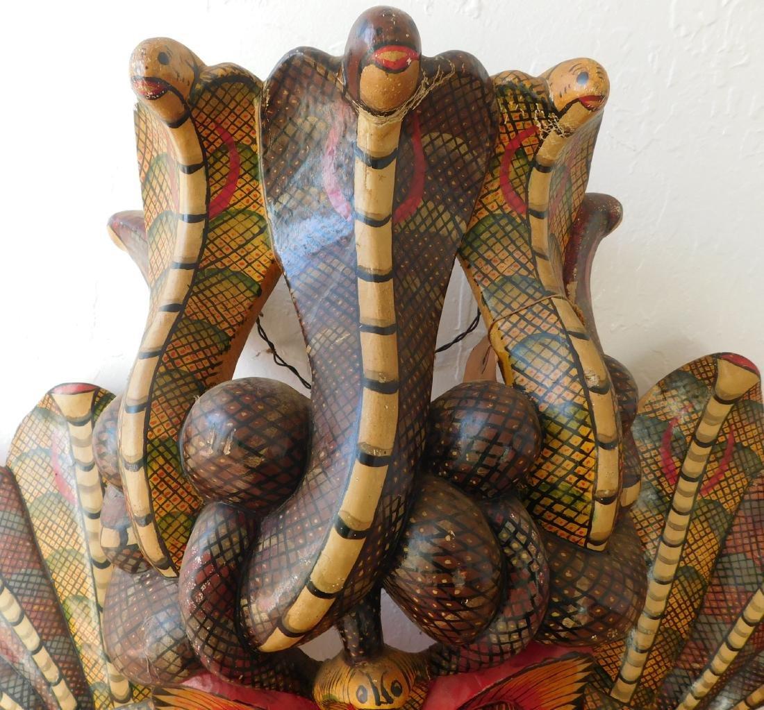 Large Ceylon Wood Mask - 2