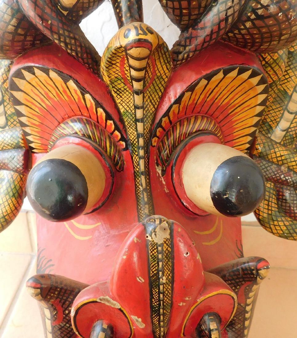 Large Ceylon Wood Mask - 3