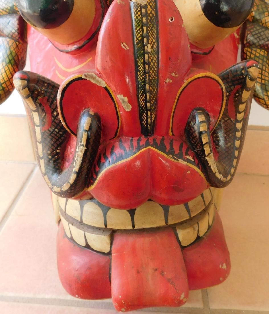 Large Ceylon Wood Mask - 4
