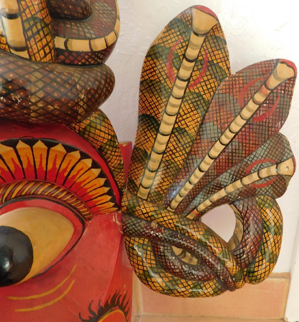 Large Ceylon Wood Mask - 6