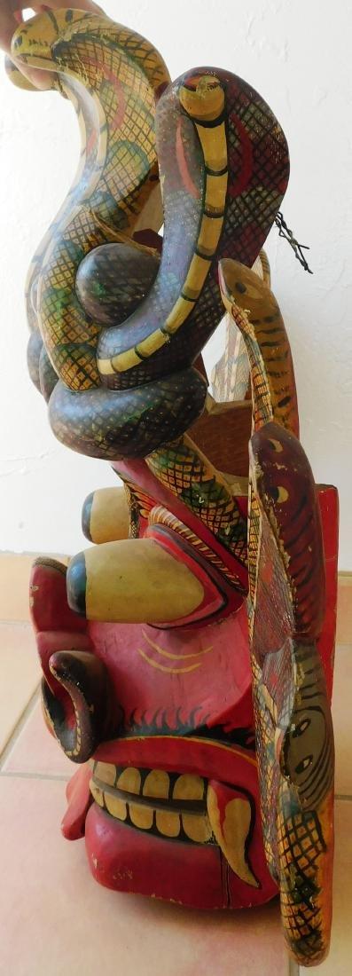 Large Ceylon Wood Mask - 7