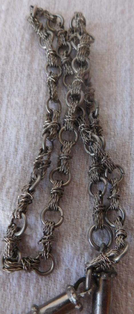 Indian Silver & Bead Necklace - 7