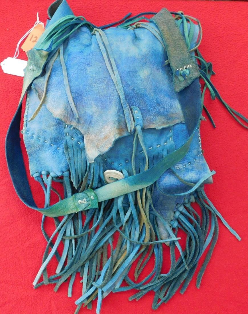 Southwest Blue Leather Bag