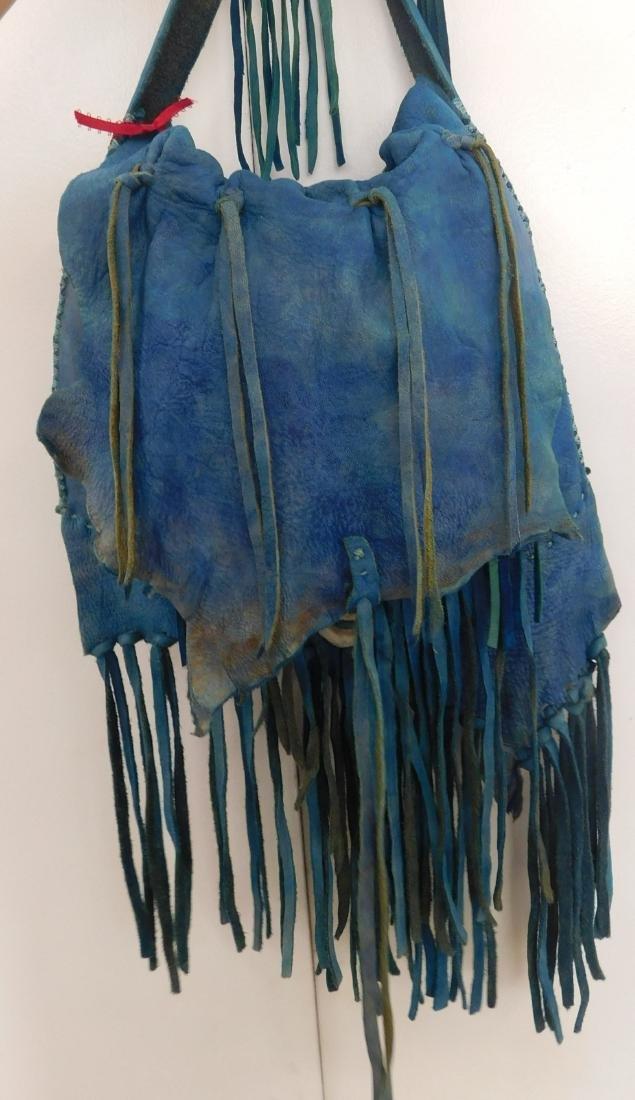 Southwest Blue Leather Bag - 2