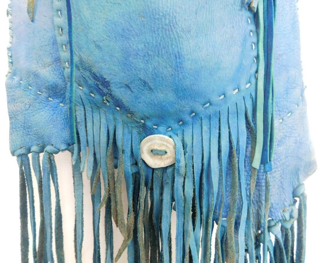 Southwest Blue Leather Bag - 3