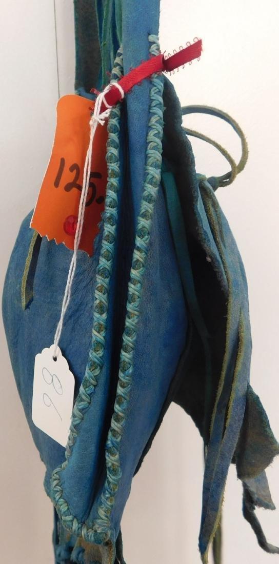 Southwest Blue Leather Bag - 7