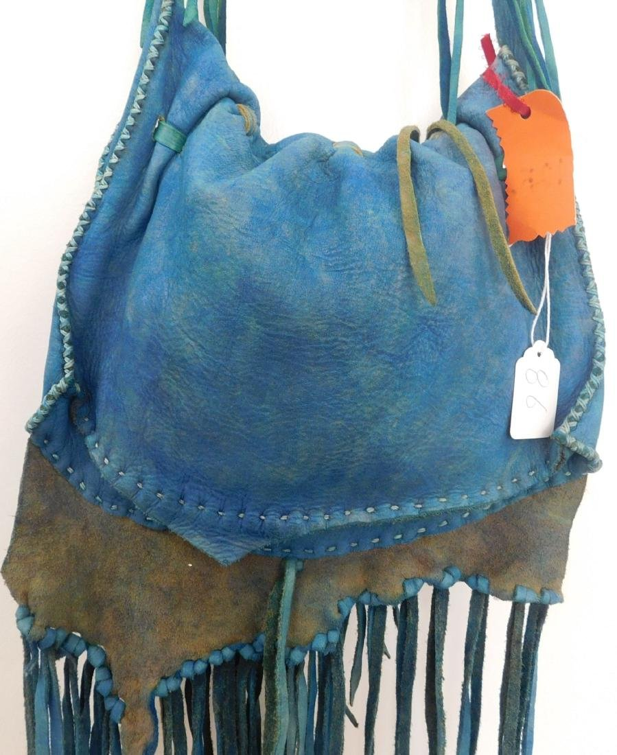Southwest Blue Leather Bag - 8
