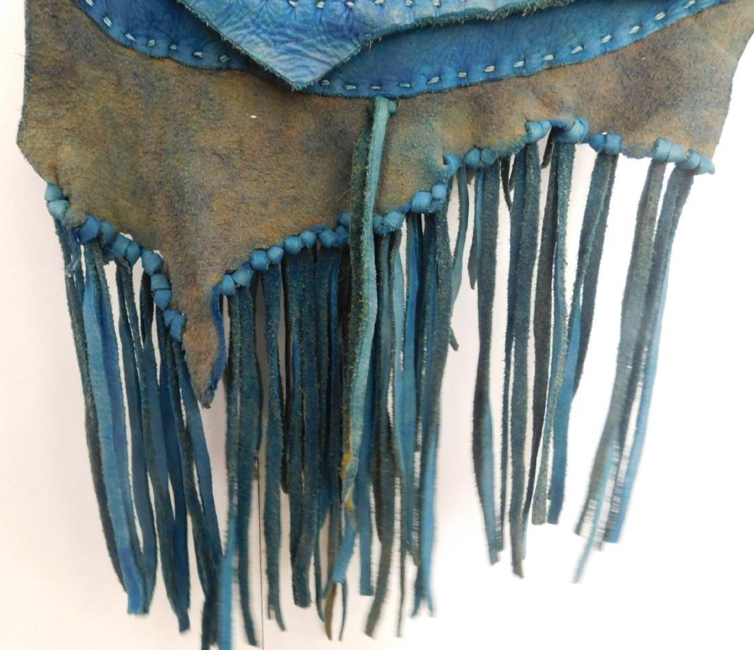 Southwest Blue Leather Bag - 9