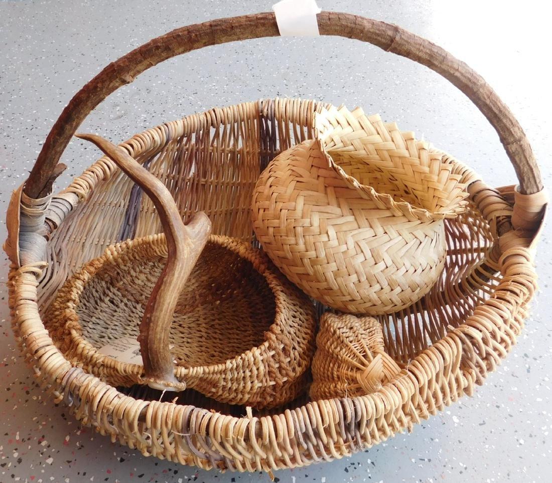 Large Basket of Tribal Baskets