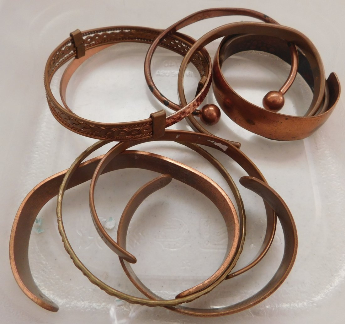10 Copper Bracelets