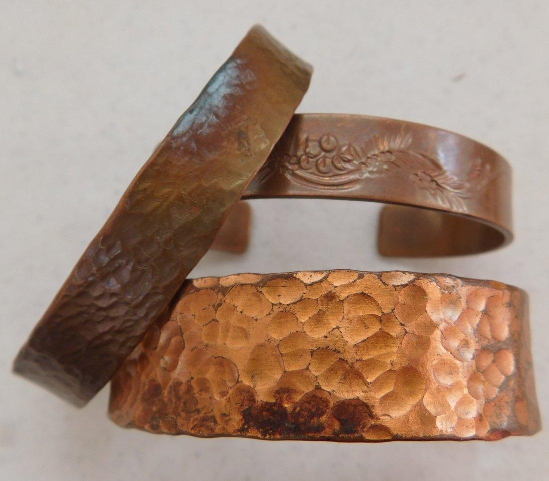 12 Old Mexican Copper Cuffs - 2