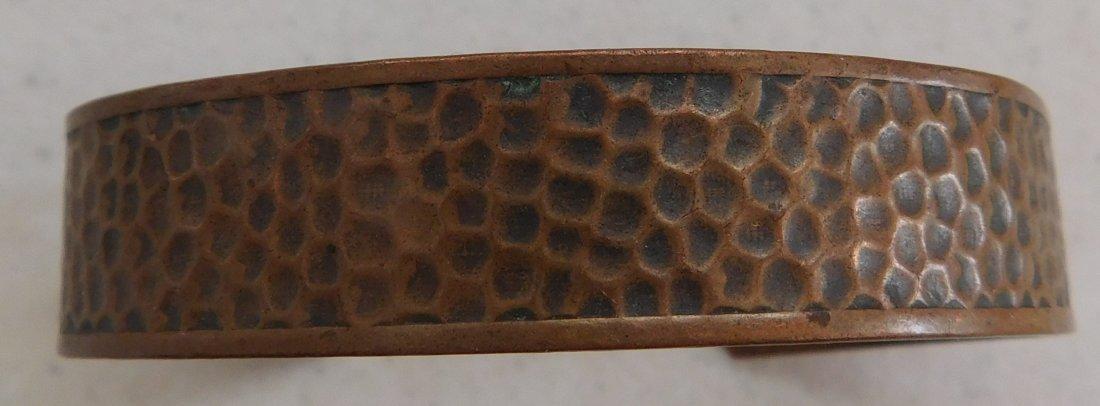 12 Old Mexican Copper Cuffs - 5
