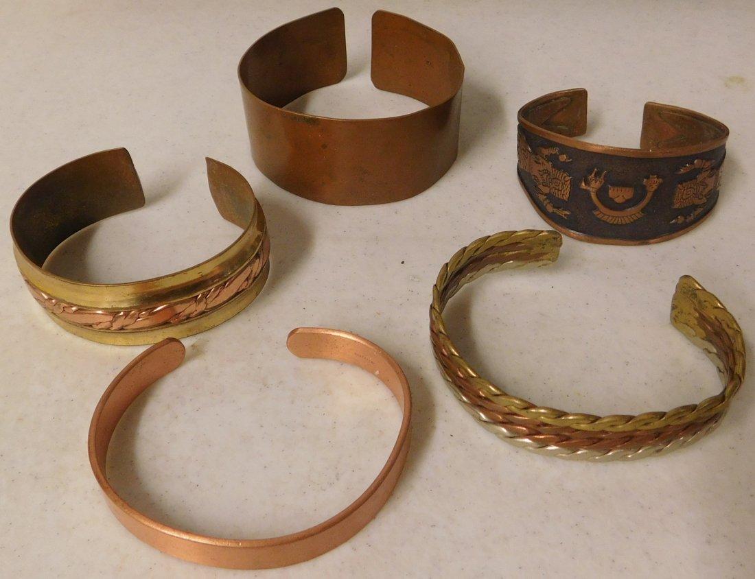 5 Copper & Brass Bracelets