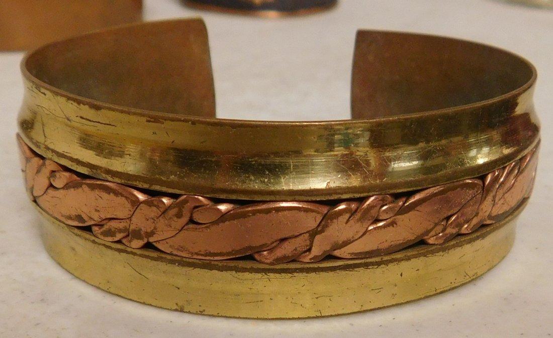 5 Copper & Brass Bracelets - 2