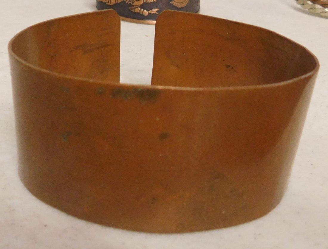 5 Copper & Brass Bracelets - 3