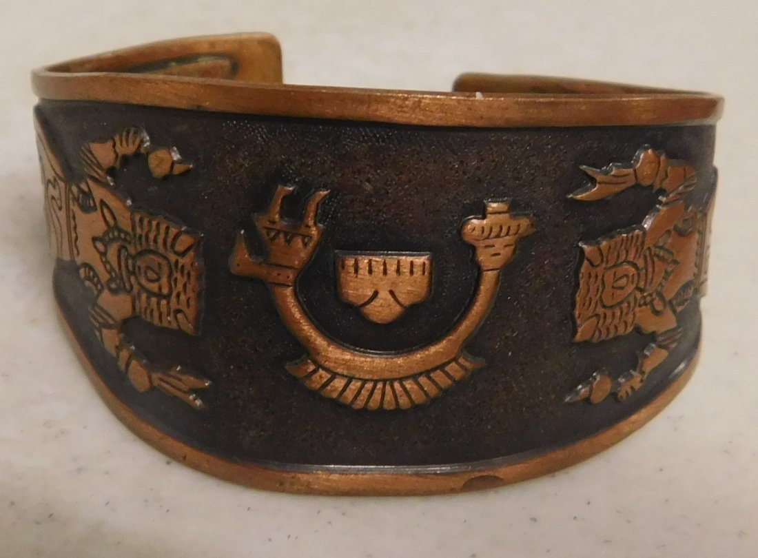 5 Copper & Brass Bracelets - 4