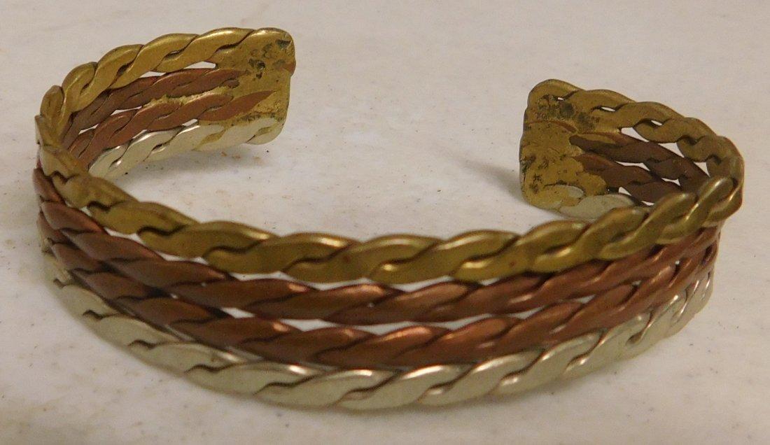 5 Copper & Brass Bracelets - 7