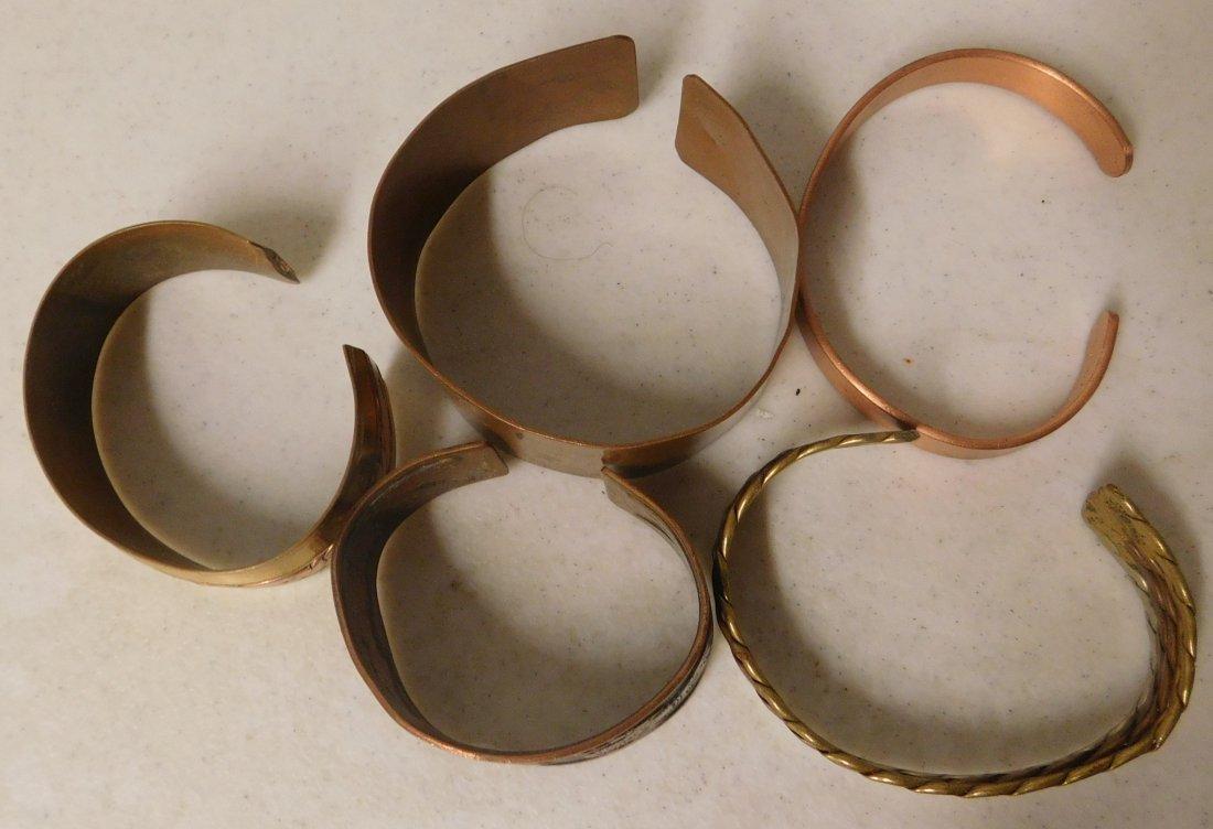 5 Copper & Brass Bracelets - 8