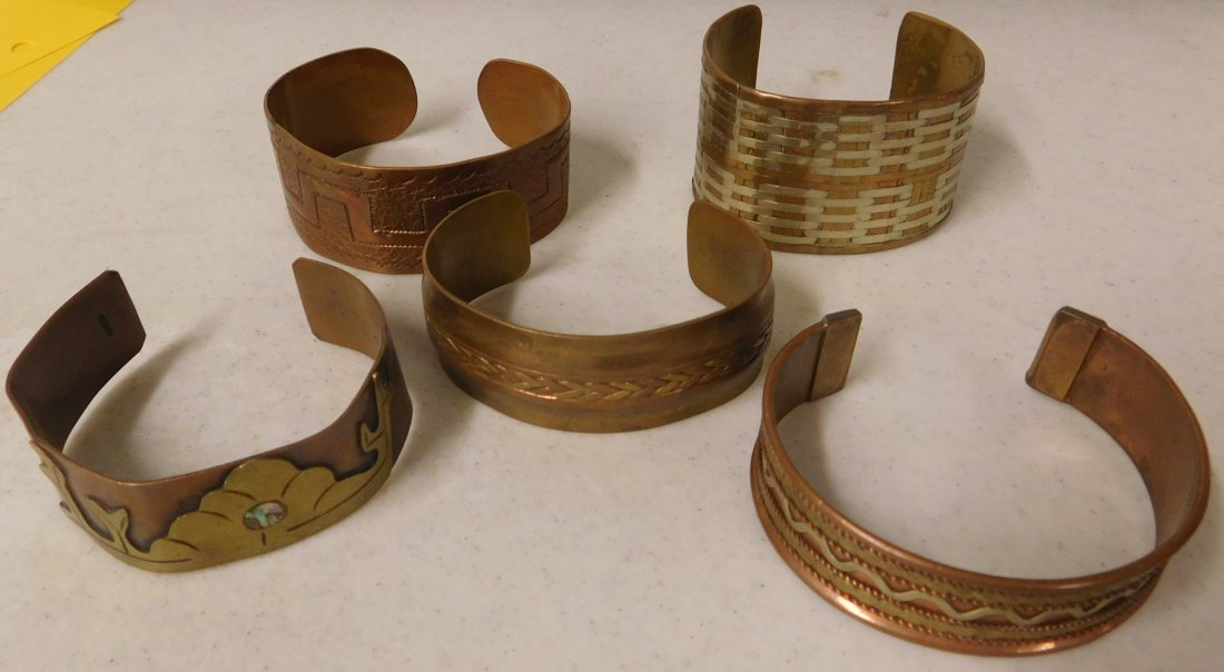 5 Copper & Brass Bracelets