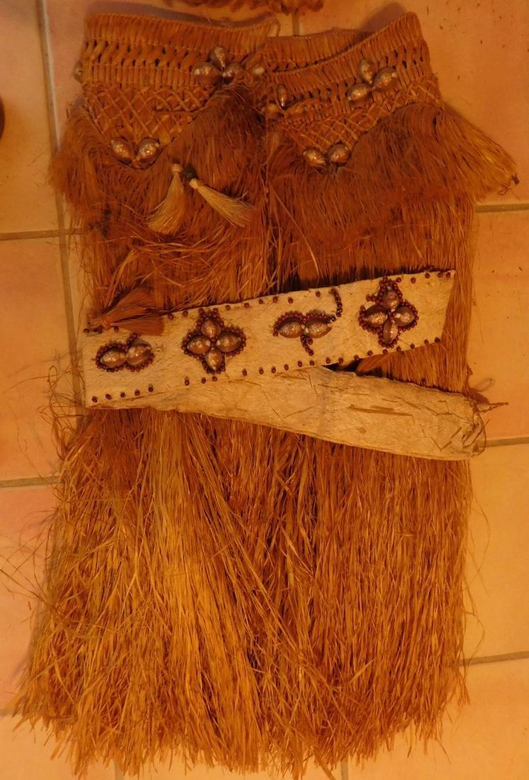 Polynesian Grass Skirt w/Helm COA - 2