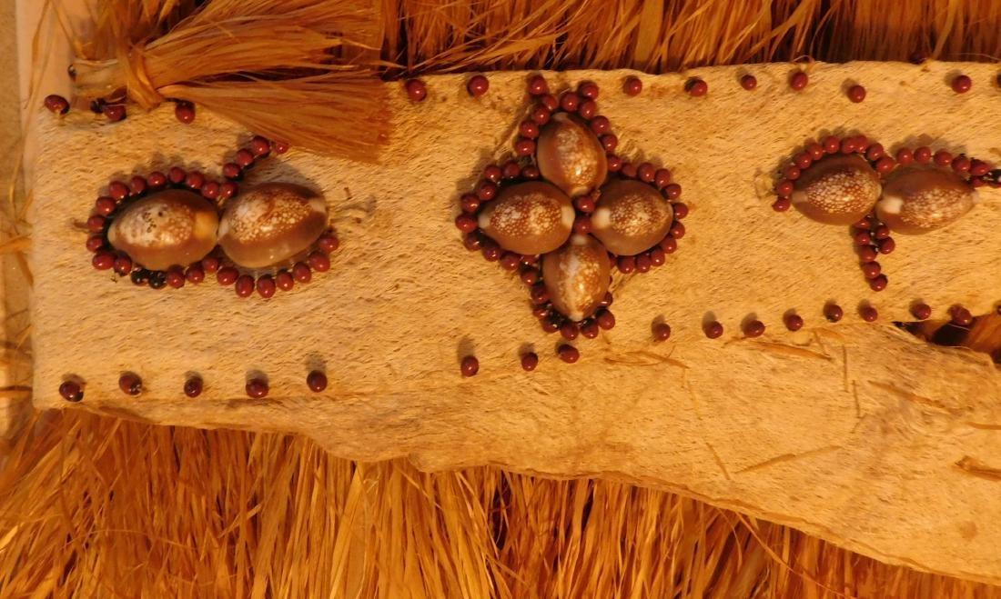 Polynesian Grass Skirt w/Helm COA - 5